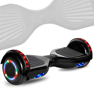TechClic Electric Hoverboard Self-Balancing 6.5 Inch Wheel Built in Speaker LED Headlight UL Certifie