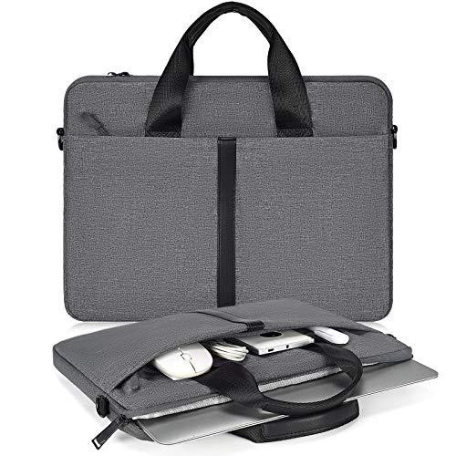 15.6 Inch Laptop Briefcase Women Men Handbag for HP Pavilion/Envy 15.6, Acer Nitro 5 15.6, Lenovo Ideapad 15.6, Dell Inspiron 15 3000 5000, Acer Samsung ASUS Chromebook 15.6' Carry Case, Space Gray