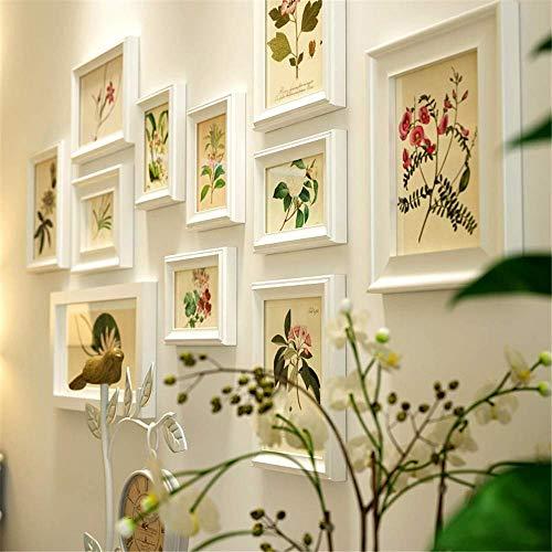 H.yina Europäischer Stil Massivholz Bilderrahmen Wand Fotorahmen Wanddeko Einfach Weiß Bilderrahmen Set Verschiedene Größen Creative Fotorahmen Collage Die Front Ist Echtes Plexiglas