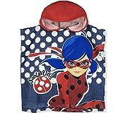 Miraculous Ladybug Kids Hooded Towel Poncho - Spots On! - Blue - 50x100 cm
