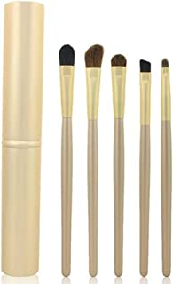 Mokale 5 pieces Professional Eyeshadow Brush Makeup Kit Designer Cosmetic Eye Makeup Tools with Luxury Case Synthetic & Goat Hair Stylish Ergonomic Handles At Home or Travel