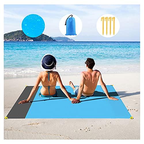 NC Picknickdecke Stranddecke wasserdichte mit 4 Zeltstöpsel, Sandabweisende Campingdecke für den Strand, Campen, Wandern