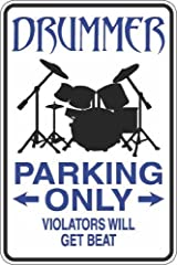 "8"" x 12"""" heavy 040 aluminum novelty street sign Printed using uv resistant inks Weatherproof will not rust Suitable for indoor or outdoor use Manufactured with rounded corner and two holes for mounting"