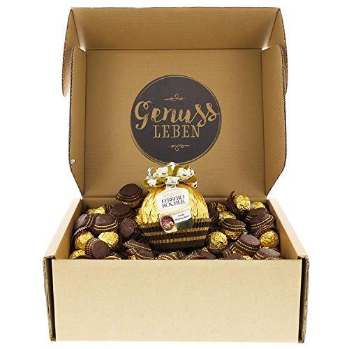 Genussleben Grand Ferrero Rocher, große Scholadenkugel inklusive 160 knusprige Pralinen mit Milchschokolade und Haselnusscreme
