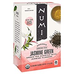 JASMINE GREEN TEA: Fragrant organic jasmine flowers are laid atop organic green tea leaves as their scent is naturally embraced. This smooth green tea has layers of subtle fragrance and hints of moonlight. BRIGHT, FRESH GREEN TEA: Whether you're look...