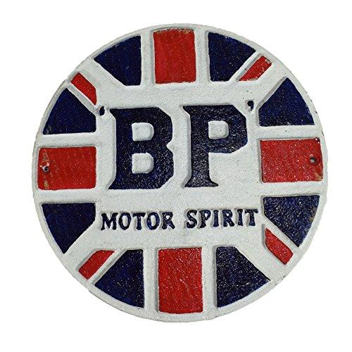 AB Tools Carburant BP MotorSpirit Fonte Ronde Plaque Sign Garage Mur Atelier Essence GO