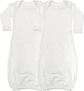 Laughing Giraffe Baby Long Sleeve Sleeper Gowns (Set of 2) White