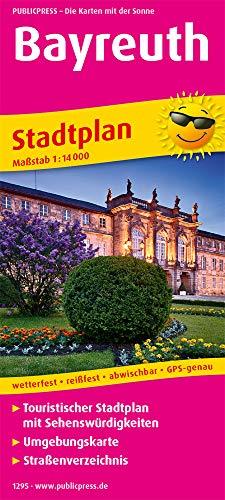 Bayreuth: Touristischer Stadtplan mit Sehenswürdigkeiten und Straßenverzeichnis. 1 : 14 000 (Stadtplan: SP)