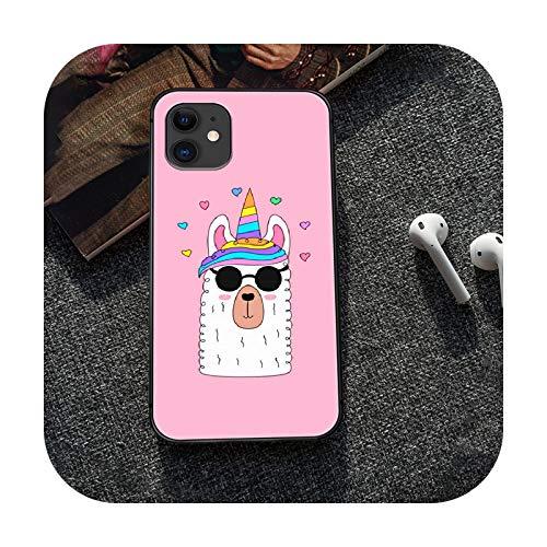 Alpaca - Carcasa para iPhone 5, 5s, se 2, 6, 6s, 7, 8, 12 mini plus X, XS XR 11 Pro Max, color negro