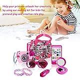 josietomy - Caja de Maquillaje para niños, con Gafas de Sol para niños, Accesorios, Maquillaje, simulación de la Bolsa de Mano Familiar, Color Rosa