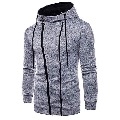 ZYUD Herren Kapuzenpullover Sweatshirt Freizeit Street Gym Fitness Jogging Sweatjacke...