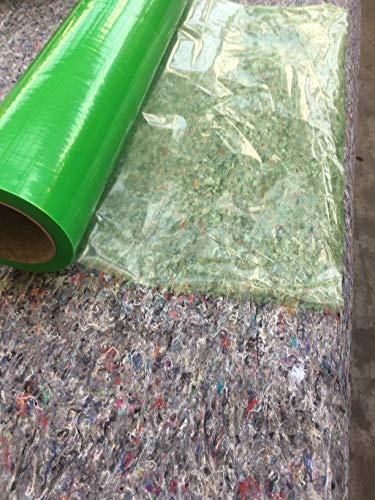 2 Rollen Glasschutzfolie selbstklebend 500 mm x 100 m (100 m²) grün