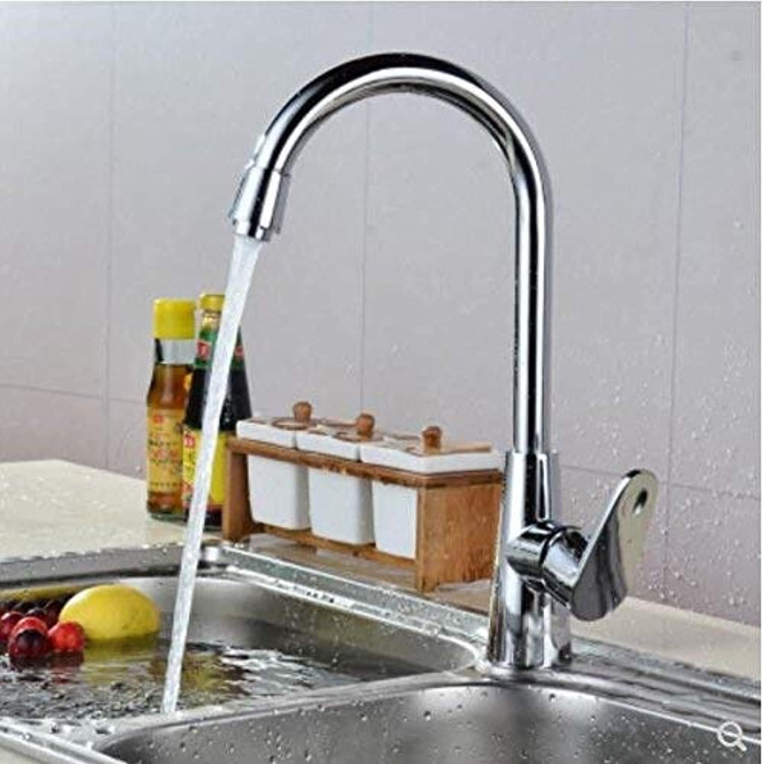 FuweiEncore Kitchen Faucet Hot and Cold Local Copper Core Wash Vegetable Basin Faucet Stainless Steel Tank Faucet redatable (color   -, Size   -)