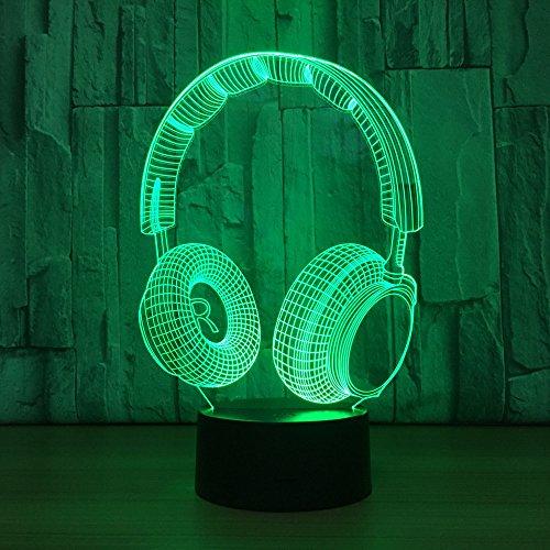 Neue kopfhörer Touch tischlampe Farbe ersatz tischlampe Lampe neuheit nachtlicht Lampe Drop Boat Lampe
