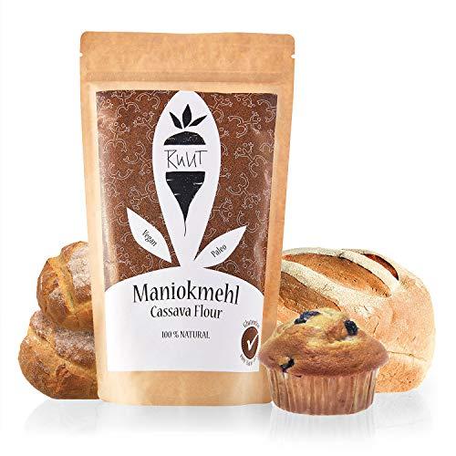Ruut Maniokmehl / 100% Natürlich / Paleo / Vegan / Glutenfreies Mehl / Nussfrei Backen / Gesundes Brot Backen / Getreidefrei / Autoimmun Ernährung (AIP) / low-FODMAP / Ohne Zusätze / 500g