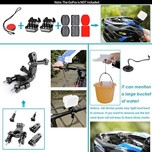 Neewer 21-in-1 Action-Kamera Zubehör-Kit für GoPro Hero 6 5 4 3+ 3 2 1, Hero Session 5 Black AKASO EK7000 Apeman SJCAM DBPOWER AKASO VicTsing Rollei - 7