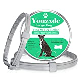 Youzxde Flea and Tick Collar for Large Dogs,8-Month Tick and Flea Control for Dogs Above 18 Lbs,Safe & Allergy Free, Waterproof, Adjustable,with Flea Comb