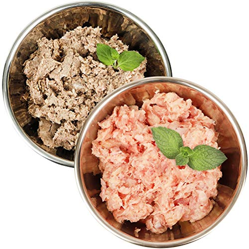 Barf-Snack gesundes Frostfutter für Hunde & Katzen - Sparpaket Rind-Power-Mix & Pute Komplett (28 x 1000g) Frostfleisch, Barf Hundefutter, Barf Katzenfutter