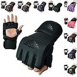 10. MMA Gloves, UFC Kickboxing Gloves, MMA Sparring Gloves, MMA Training Equipment, Fighting Gloves for Mixed Martial-Arts, MMA Training Gloves Adults Men & Women by BeSmart (Matte Black, Small)
