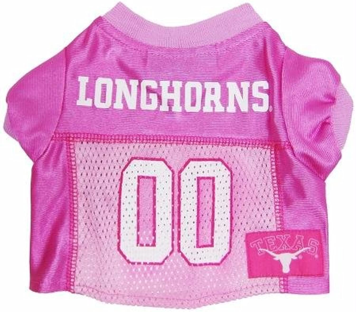 Mirage Pet Products Texas Longhorns Jersey for Dogs and Cats, Small, Pink