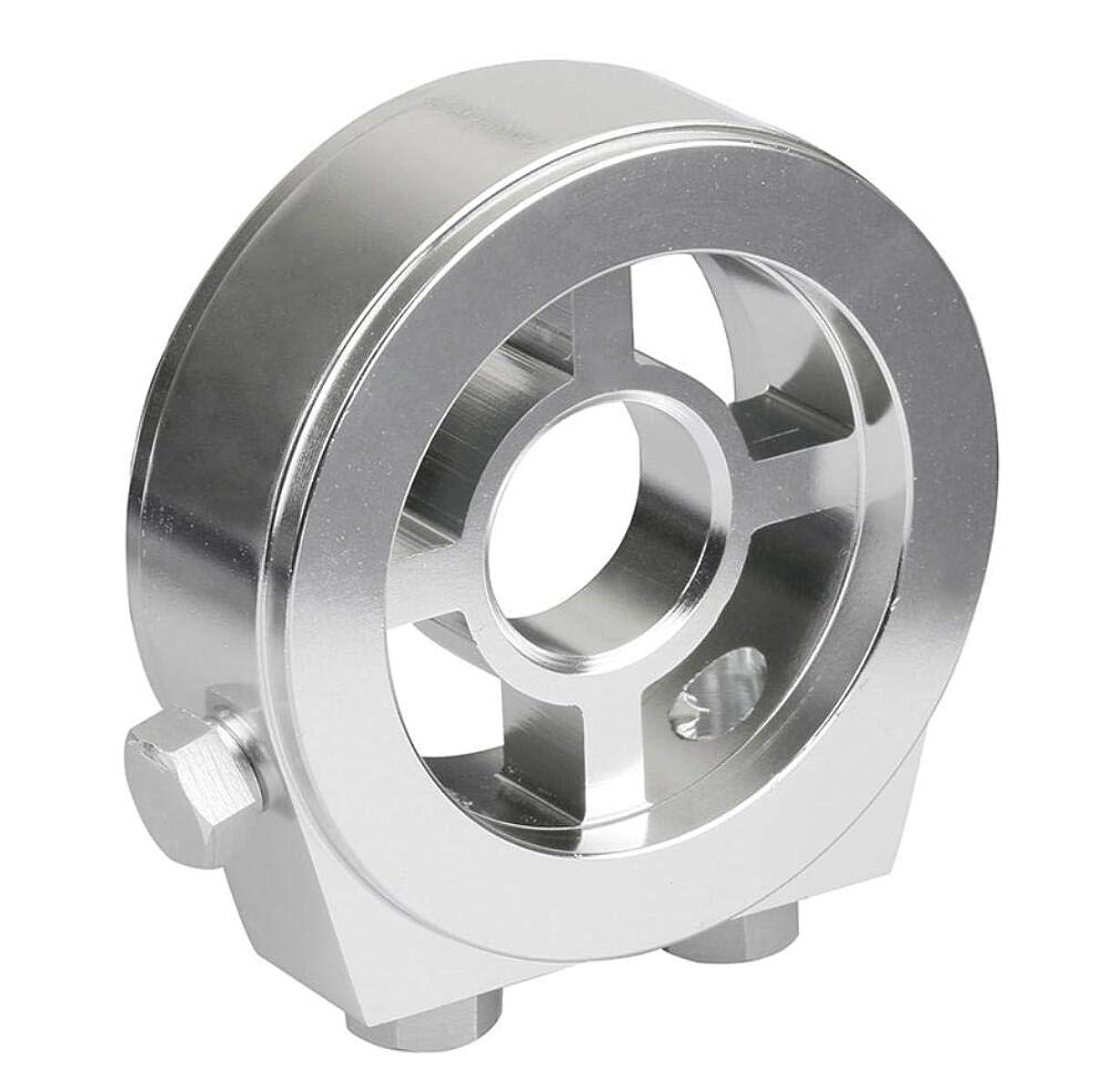 ペダル有望ずらすユニバーサルアルミ油圧温度ゲージフィルターサンドイッチ冷却システムキット4ボルト車クーラープレートアダプター,Silver