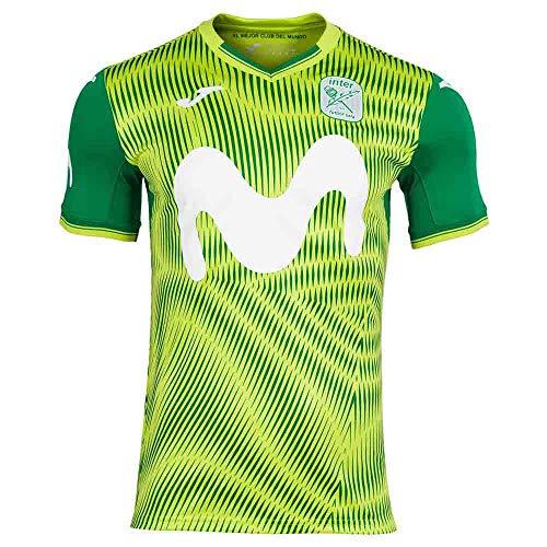 Joma Movistar Inter FS Segunda Equipación 2020-2021, Camiseta, Verde flúor, Talla XL