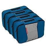 Gonex Packing Cubes Travel Organizer Cubes for Luggage 4xMedium Deep Blue