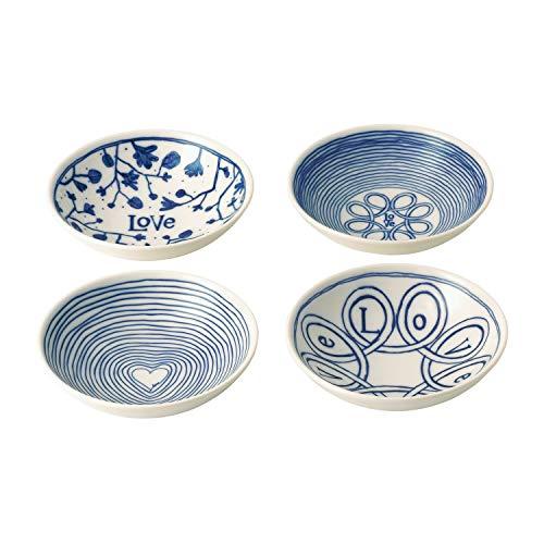 Royal Doulton Ciotola 14cm Love Set/4, Porcellana, Blu, 17.8x 9.5x 17.4cm