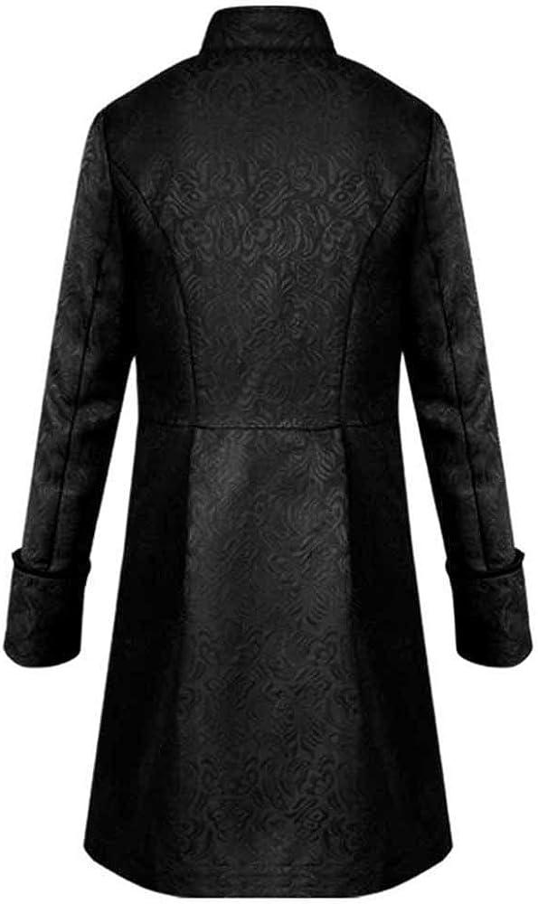 Leeafly Herren Jacke Frack Steampunk Gothic Gehrock Uniform Kost/üm Smoking Mantel Retro Langer Uniformkleid M/änner Langarm Jacket f/ür Winter Herbst