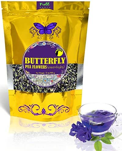 Full Moon Party Butterfly Pea Flower Tea Organic Herbal healthy tea drink from Smart Farm Blue product image