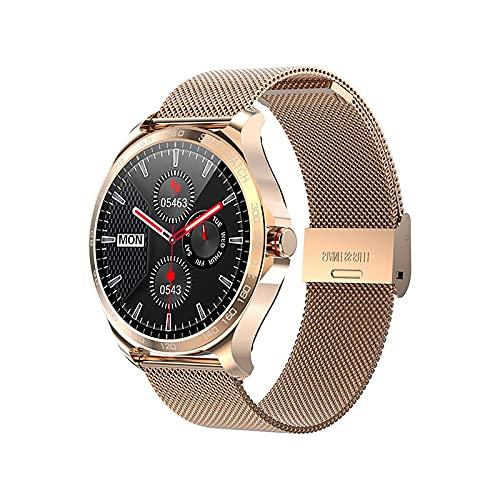 Garett Maya - Reloj inteligente para mujer (acero dorado)
