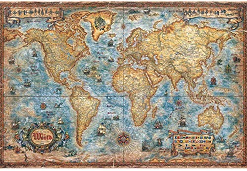Jigsaw Puzzle 1000 Pieces of Wooden Puzzle World map retro IQ challenge puzzle classic home decoration