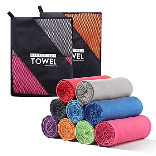 WeiJia Sport Fitness Kalte Handtücher, Mikrofasertücher/Kalte Handtücher Zum Laufen, Wandern, Reisen und Yoga Sport Kalte Handtücher, Tragbare Handtücher