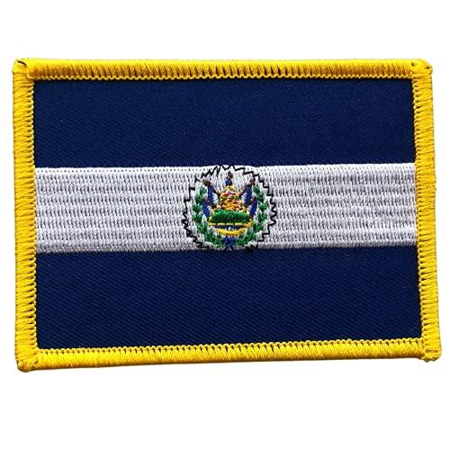 El Salvador Flagge 6,3–8,9 cm bestickter Aufnäher zum Aufbügeln