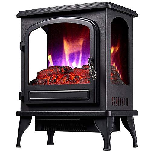 ZMJJ Haard elektrisch met verwarming wand radiografische gestuurde faek haard elektrisch dimbaar timerfunctie 1000/2000W vlammeneffect verwarming oven