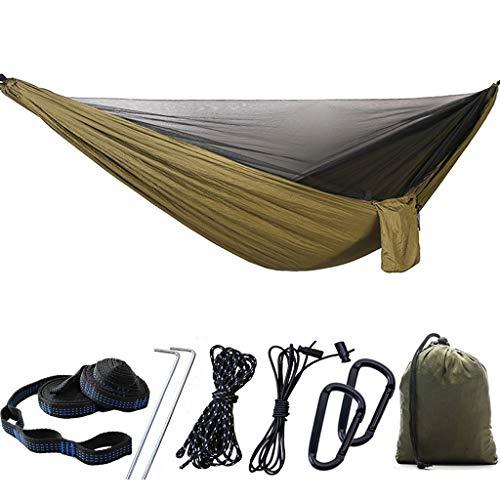 Hamaca de camping con mosquitera, portátil, impermeable, ligera, de nailon, para mochilas, senderismo, viajes, para senderismo, playa, patio, aventura, viajes
