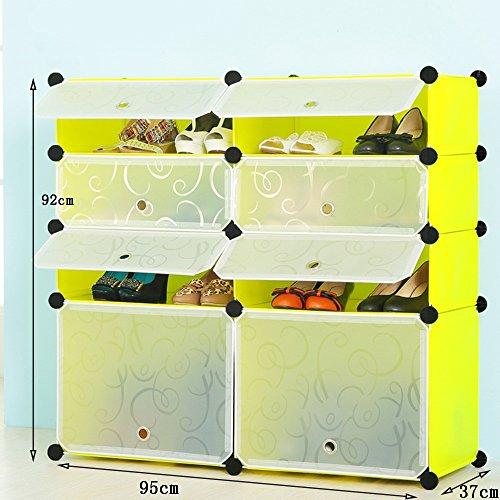 Chaussure Simple Shoe Cabinet Combinaison de Grande capacité à étages en Plastique à Plusieurs étages, résine Shoe Rack Gabarit de Amovible (Taille : 95 * 37 * 72cm)