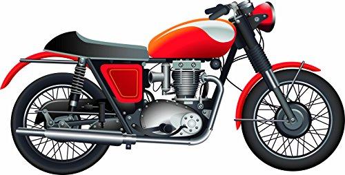 Photocall Moto roja | Medidas 2,22 m x 1,13 m | Photocall Divertido | Bodas comuniones