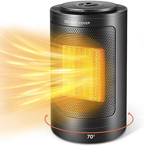 Portable Space Heater, 2020 New Mini Electric Ceramic Heater, 1500W / 750W Fast Heating Space Heater with Adjustable Thermostat, Over-Heat & Tilt Protection, Safe & Quiet for Office Room Desk Indoor