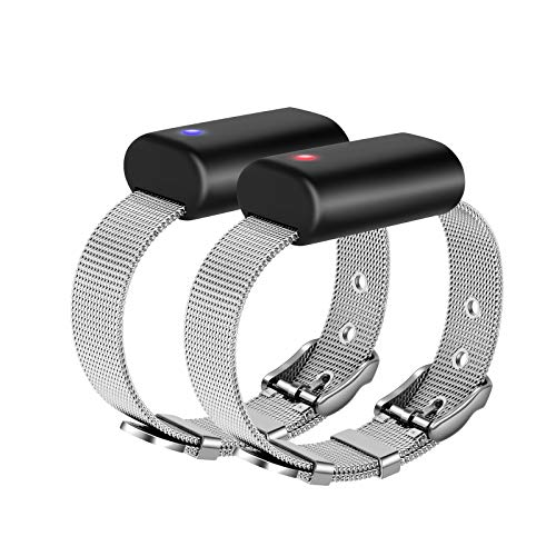 Long Distance Connection Couples Bracelets - People Around You Closer Than Ever/Send SOS SMS ,Apply to Lovers Family Kids Couples Friends Cheap Relationship Gifts(Bluetooth, Support iPhone & Android)