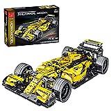 XIAN Coche de carreras para Ferrari Formula F1, Mork Racer 023009, 1100 Bloques de construcción de sujeción Tecnología de bloques de construcción