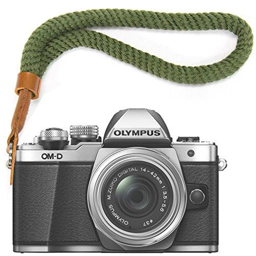 Verde Cámara Digital Correa muñeca Brazalete algodón Suave cámara Correa para Fujifilm XE3 X100F X100T X100S XT20 XT10 XT3 XT2 XT1 X70 X-Pro2 X-Pro1 X-E2S XE2 X30 X20 X10 XF1 etc