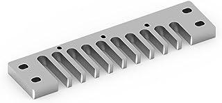 Pieza de armónica de Peine, aleación de Aluminio para Hohner Marine Band Crossover/Deluxe (3 Colores: Oro, Plata, Rojo)