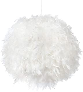 Best feather pendant light shade Reviews