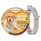 CHUWPI, collare calmante per cani – Collare calmo feromone, sollievo dall'ansia per cani di taglia piccola, media e grande, regolabile e impermeabile, 100% naturale