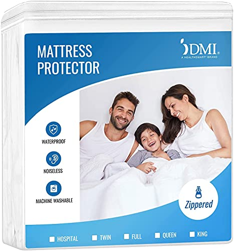 DMI Waterproof Mattress Protector and Mattress Cover, Encased Zippered Fit, Twin