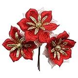 MHSXHXY 7cm / 2.75'Cabeza De Flor Única Flores Artificiales Brillo Flor Falsa para Boda Fiesta De Cumpleaños DIY Artesanía Decoración Día De La Madre, Aniversario