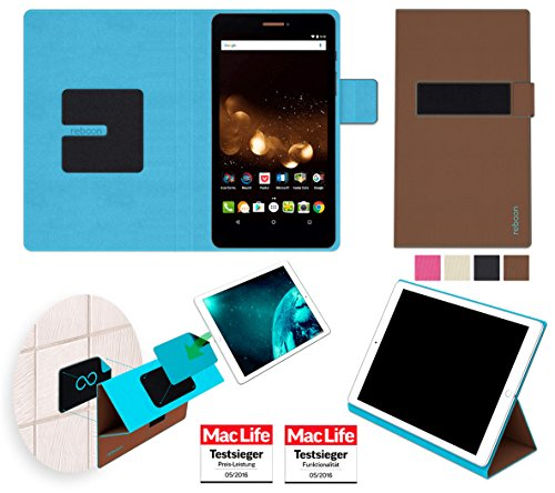 reboon Hülle für Acer Iconia Talk S A1-734 Tasche Cover Hülle Bumper | in Braun | Testsieger