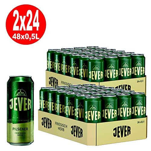 2 x Jever Pilsener 24 x 0,5L =48 Dosen 4,9% Vol inkl. Pfand EINWEG