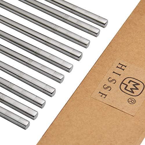 HISSF Chopsticks 18 10 Stainless Steel 5 Pairs Reusable Chopsticks Dishwasher Safe Korean Chinese product image